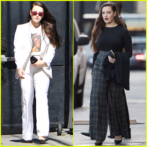 Katherine Langford Looks So Chic Heading to 'Jimmy Kimmel' Interview!