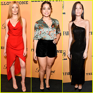 Katherine McNamara & Jessica Parker Kennedy Support Kelsey Asbille at 'Yellowstone' Premiere