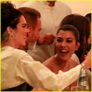 Kendall Jenner & Kourtney Kardashian Grab Dinner With Kaia Gerber!