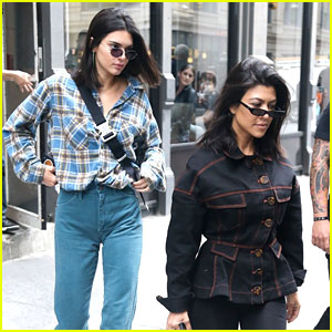 Kendall Jenner Grabs Lunch with Kourtney Kardashian After Eventful NYC Night
