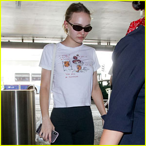 Lily-Rose Depp Heads to Paris in an Appropriately Themed Shirt
