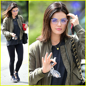 Lucy Hale Visits The Old 'Pretty Little Liars' Stages