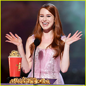 Madelaine Petsch Wins Scene Stealer Award at MTV Movie & TV Awards!