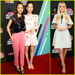 Bizaardvark's Olivia Rodrigo, Madison Hu & DeVore Ledridge Go Glam For RDMAs 2018