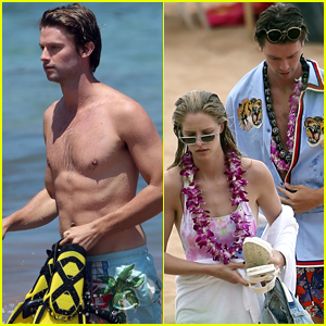 Patrick Schwarzenegger & Girlfriend Abby Champion Enjoy Vacation in Hawaii!