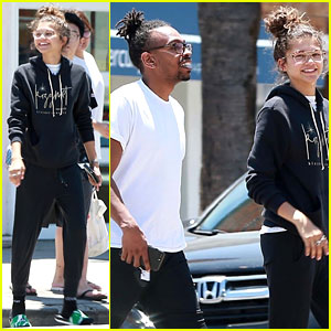 Zendaya Can't Stop Grinning Ahead of the Weekend!