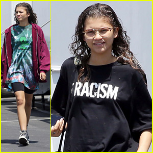 Zendaya Wears Alien Tie-Dye Tee To Set After 'Euphoria' Show Announcement