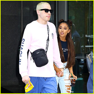 Ariana Grande & Fiance Pete Davidson Head to Her Amazon Music Prime Day Performance