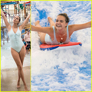 Bailee Madison Takes Fun Family Vacation To Great Wolf Lodge in Minnesota