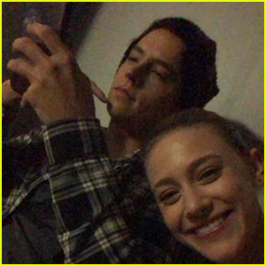 Cole Sprouse & Lili Reinhart Watched the Blood Moon Together & It Was Hilarious