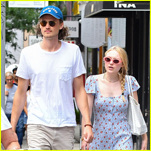 Dakota Fanning Wears Cute Sundress in NYC Alongside Henry Frye