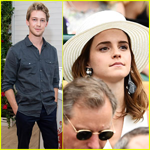 Emma Watson & Joe Alwyn Look Sharp at Wimbledon 2018!
