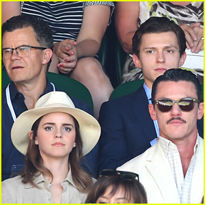 Emma Watson & Luke Evans Meet Up with Tom Holland at Wimbledon!