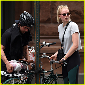 Joe Jonas & Sophie Turner Enjoy a Bike Ride Together in NYC!