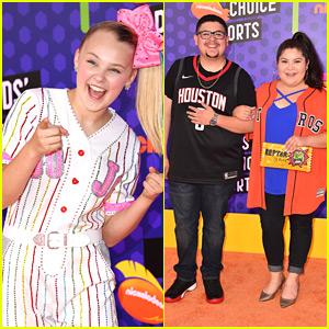 JoJo Siwa, Rico & Raini Rodriguez Step Out For Kids' Choice Sports Awards 2018