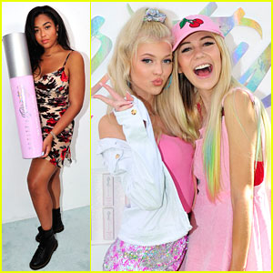 Jordyn Woods Joins Jessie Paege & Loren Gray at Beauty Launch Event