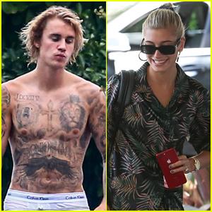 Justin Bieber & Hailey Baldwin Soak Up the Sun in Miami!