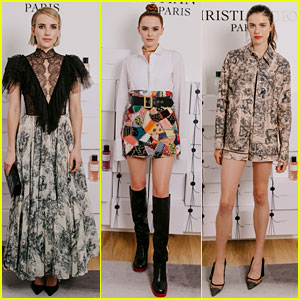 Emma Roberts, Zoey Deutch, & Margaret Qualley Step Out in Style for Dior Dinner