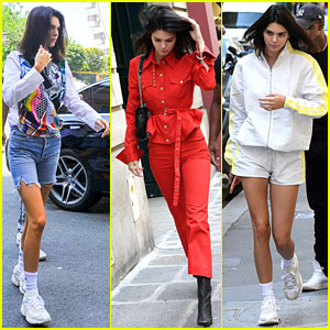 Kendall Jenner Sports Three Colorful Looks While Out in Paris