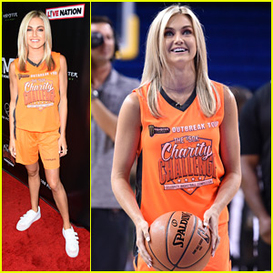 Lindsay Arnold Plays Basketball For Charity at Celeb Game!