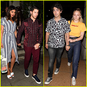 Nick & Joe Jonas Have a Double Date Night in London for Priyanka Chopra's Birthday!