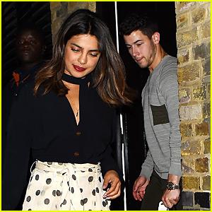 Nick Jonas Enjoys a London Date Night with Priyanka Chopra