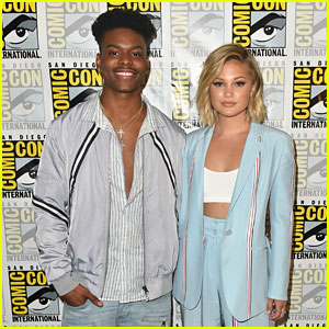 Olivia Holt & Aubrey Joseph Rep 'Cloak & Dagger' During Comic-Con Day 2!