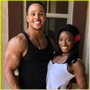 Simone Biles Gets a Sweet Surprise From Her Boyfriend - Watch Now!