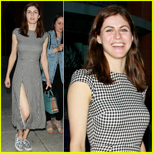 Alexandra Daddario Flashes a Grin During Girls' Night Out in LA