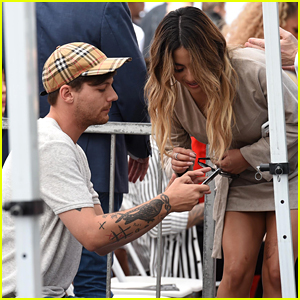Louis Tomlinson & Ally Brooke Catch Up As Simon Cowell's Walk of Fame Star Ceremony