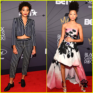 Amandla Stenberg & Storm Reid Show Off Their Unique Styles at Black Girls Rock