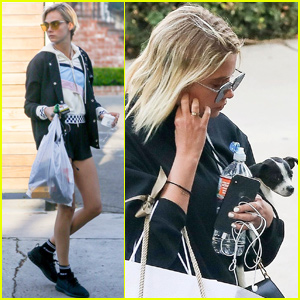 Cara Delevingne Joins Ashley Benson & Her Cute Pup For Shopping Trip