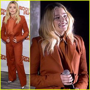 Chloe Moretz Dons Burnt Orange Suit at 'Miseducation of Cameron Post' Screening