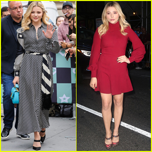 Chloe Moretz Looks Stylish Promoting Her New Movie in NYC!