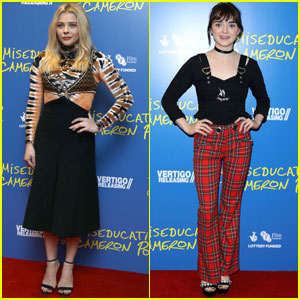 Chloe Moretz & Maisie Williams Step Out For 'Miseducation of Cameron Post' Screening