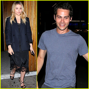 Chloe Moretz & Dylan O'Brien Grab Dinner with Friends