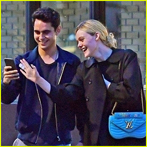 Elle Fanning Gets Cozy with Actor Max Minghella in London