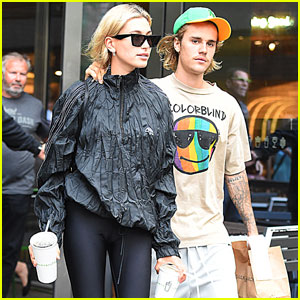 Justin Bieber & Hailey Baldwin Couple Up For Afternoon Milkshakes
