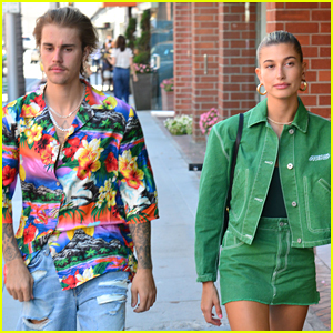 Justin Bieber Steps Out with Fiancee Hailey Baldwin in Beverly Hills!