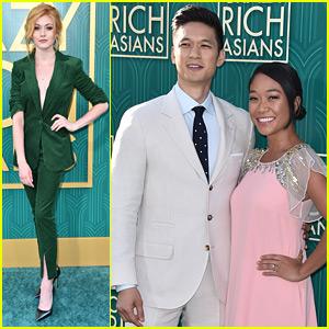 Katherine McNamara Supports Harry Shum, Jr. at 'Crazy Rich Asians' Premiere in LA
