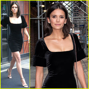 Nina Dobrev Looks So Chic in This LBD!