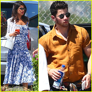 Nick Jonas Wraps Up One-Day Trip with Fiancee Priyanka Chopra