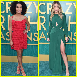 Yara Shahidi & Chloe Bennet Get Glam For 'Crazy Rich Asians' Premiere