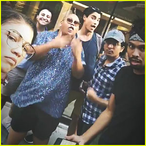 Zendaya, Tom Holland & 'Spider-Man' Cast Go Bowling & Hit The Arcade
