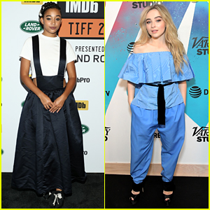 Amandla Stenberg & Sabrina Carpenter Promote 'The Hate U Give' at Toronto Film Festival 2018