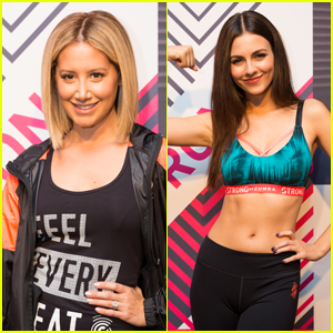 Ashley Tisdale & Victoria Justice Get In a Zumba Workout!