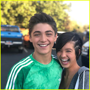 Asher Angel Shares Cute Photos With 'Andi Mack' Co-Star Peyton Elizabeth Lee