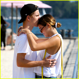 Bailee Madison & Alex Lange Have Cute Beach Date in Toronto
