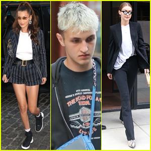 Bella, Gigi, & Anwar Hadid Step Out Separately in NYC