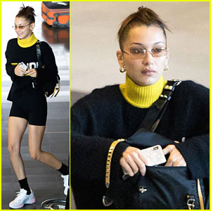 Bella Hadid Spots Herself In The Paris Airport